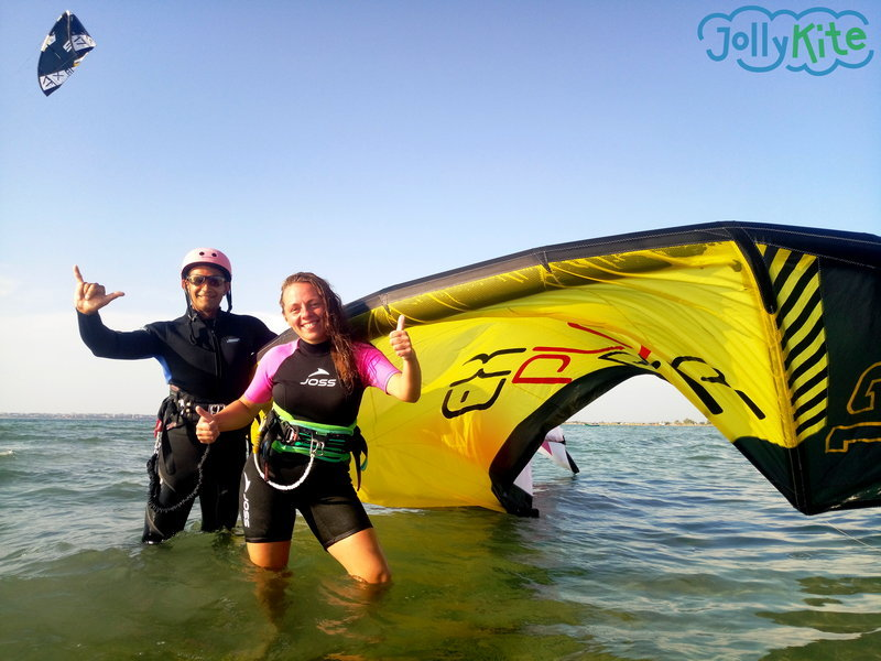 happy kitesurf students in Thailand