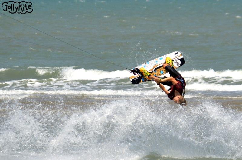 low mobe kiteboarding trick