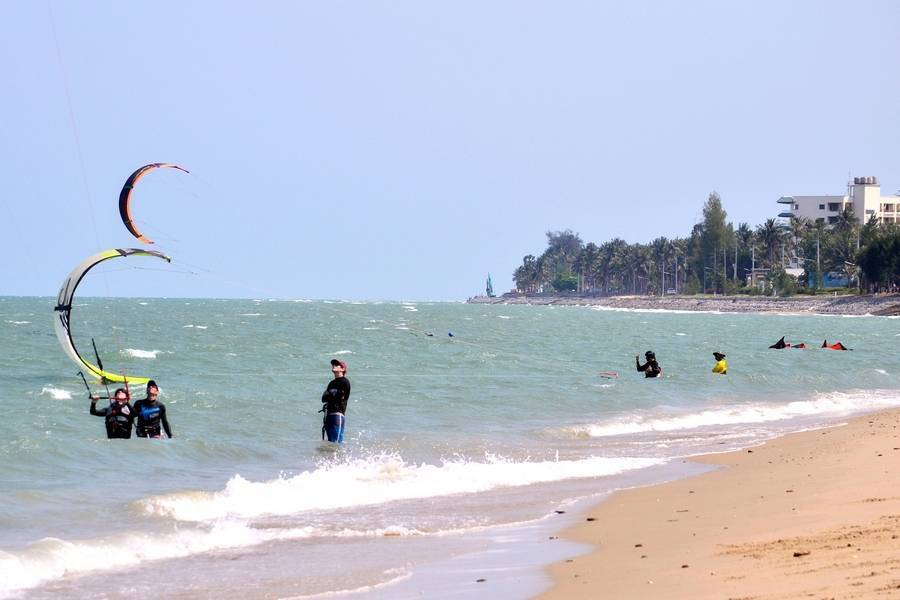 Обучение в таиланде кайтингу в прилив