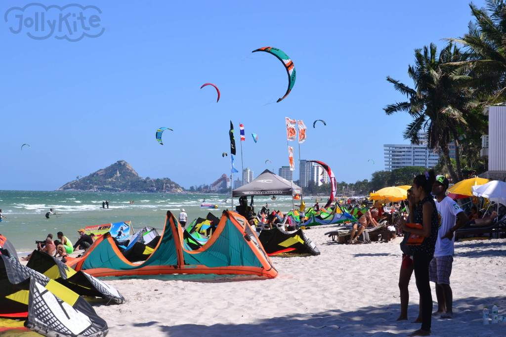 Hua-hin beach, kite spot fototo