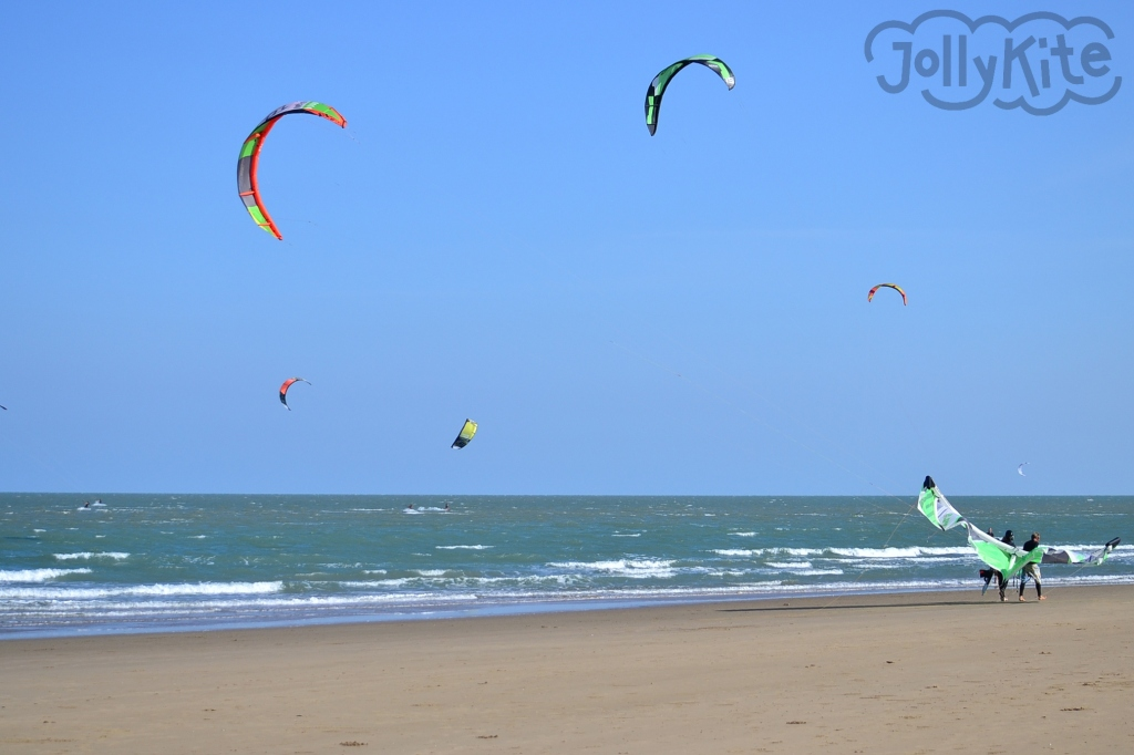 Thailand kitesurfing in the south wind photo