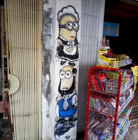 Графити миньены Пенанг фото